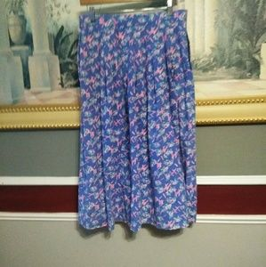 "Hand made vintage floral summer skirt waist 15"" le"